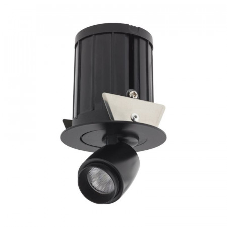 Spot LED Arelux XMicro Recessed MC02WW BK - Corp iluminat cu LED 3W 700mA 3000K 36grd. BK (5f), negru