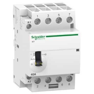 Contactor modular Schneider A9C21844 - ICT 40A 4NO 220...240VCA 50HZ MANUAL