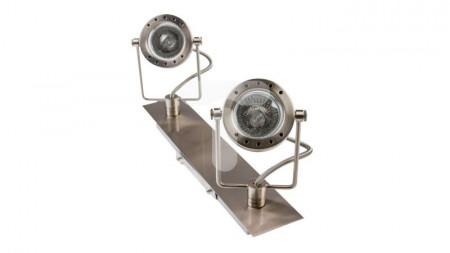 Corp iluminat Kanlux 4796 SONDA EL-2J - Plafoniera GU10, 2xmax 50W, IP20, inox