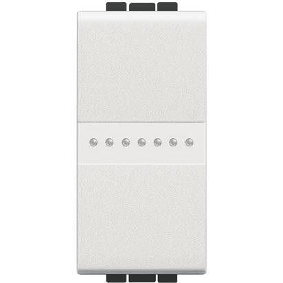 Intrerupator Bticino N4053A Living Light - Intrerupator cap scara cu comanda axiala 16A - 250V, 1 modul, borne automate, alb