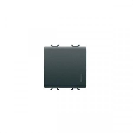 intrerupator Gewiss GW12102F Chorus - Intrerupator cap cruce cu led 2M 1P 16AX NEGRU