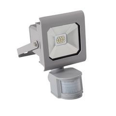 Proiector LED Kanlux 25580 ANTRA - Proiector led cu senzor de miscare, 10W, 4000k, IP44, argintiu