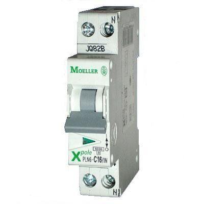 Siguranta automata Eaton 263280 - DISJUNCTOR PLN6-C10/1N 10A, 1P+N, 10A, 6kA, C