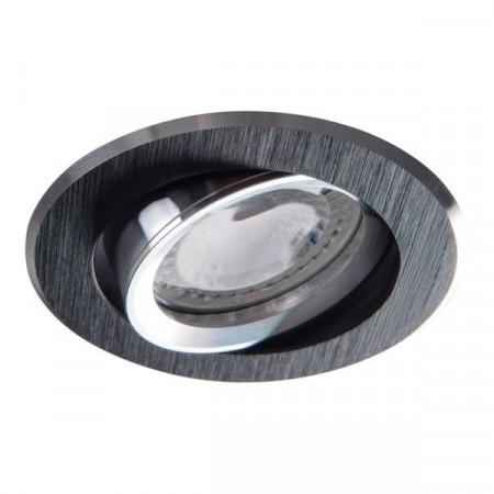 Spot Kanlux 18531 GWEN - Corp iluminat incastrat, directional, Gx5,3, max 50W, IP20, 12V, negru anodizat