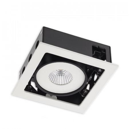 Spot LED Arelux XSide SD02WW50 MWH - Corp iluminat cu LED 1X15W 3000K 700mA 50grd. IP20 MWH (5f), alb