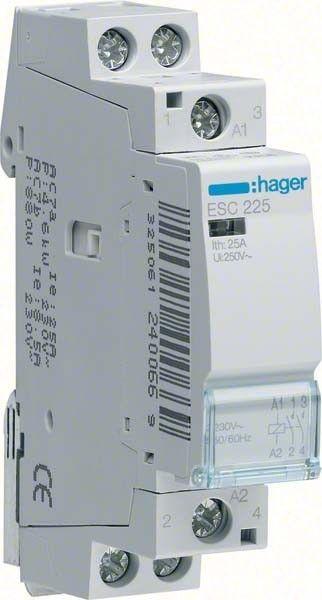 Contactor modular Hager ESC225 - CONTACTOR, 25A, 2ND, 230V