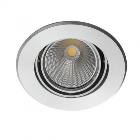 Spot Kanlux 23762 SOLIM LED - Inel spot fix incastrat LED 5W, 3000k, IP20, 290lm, argintiu