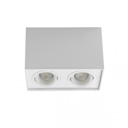 Spot Kanlux 25473 GORD DLP - Spot dublu aplicat DLP-50, GU10, max 2x25W , IP20, Alb