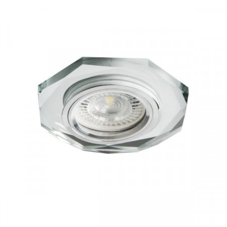 Spot Kanlux 26714 MORTA - Spot incastrat, directional GU10, 1x35W, IP20, argintiu