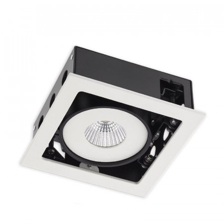 Spot LED Arelux XSide SD02NW50 MWH - Corp iluminat cu LED 1X15W 4000K 700mA 50grd. IP20 MWH (5f), alb