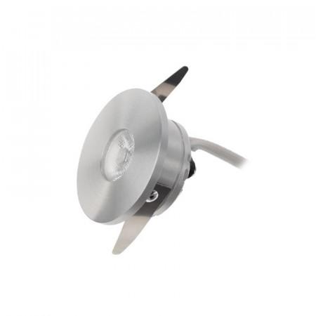 Spot LED Arelux XTwist TW01NW40 BA - Corp iluminat cu led 1x3W 3000K 700mA 40grd. IP40 MWH (5f), argintiu