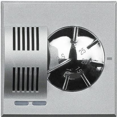 Termostat Bticino HC4441 Axolute - Termostat de ambianta, 230V, 2 module, argintiu