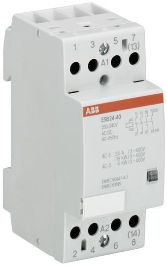 Contactor modular ABB GHE3291702R0001 - ESB24-13-24AC/DC INST.-CONTACTOR 1NO+3NC