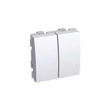Intrerupator Schneider Altira ALB45026 - Intrerupator dublu cap scara, 20 A, alb