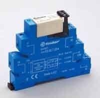 Releu Finder 385202400060 - INTERFATA MODULARA CU RELEU ELECTROMECANIC, BORNE CU SURUB, 220V-240V, AC/DC, 2C, 3.8mA