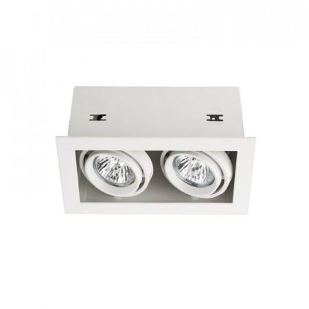Spot Arelux XTechno TC02 MWH - Corp iluminat fara bec 2X50W 12V GU5.3 IP20 MWH, alb