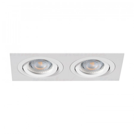 Spot Kanlux 19455 SEIDY - Spot dublu directional, incastrat, Gx5,3, 12V , 2xmax 50W, IP20, alb