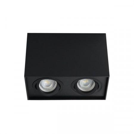 Spot Kanlux 25474 GORD DLP - Spot dublu aplicat DLP-50, GU10, max 2x25W , IP20, Negru