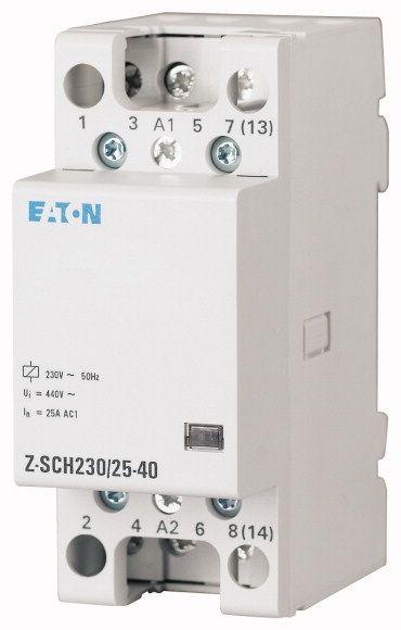 Contactor modular Eaton 248850 - Z-SCH24/25-22-Contactor modular 25A, 2ND+2NI, cda 24V