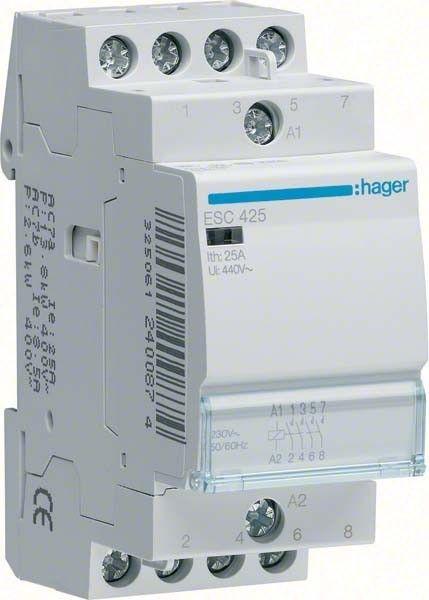 Contactor modular Hager ESC425 - CONTACTOR, 25A, 4ND, 230V