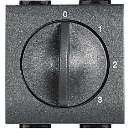 Intrerupator Bticino L4016 Living Light - Intrerupator 4 pozitii, 3A, 250V, negru