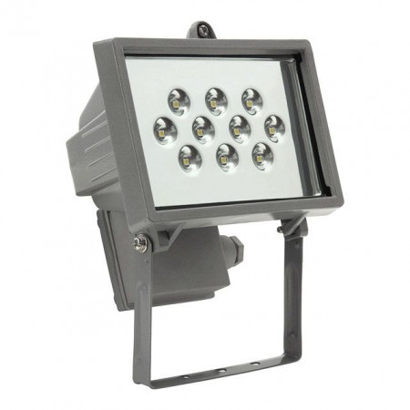 Proiector Kanlux 18541 DREIK - Proiector led 8W, IP44, 215lm, 6200k-6600k, argintiu