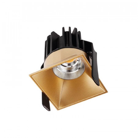 Spot Led Arelux XDomino DM02NW36 GD - Corp iluminat cu led 9W 500mA 36grd. 4000K IP20 GD (5f), auriu