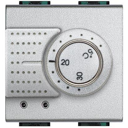 Termostat Bticino NT4441FH Living Light - termostat de ambianta cu sonda pentru pardoseala, 2M, 2A, argintiu