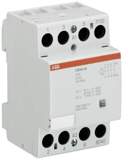 Contactor modular ABB GHE3491102R0008 - ESB40-40-415AC/DC INST.-CONTACTOR 4NO