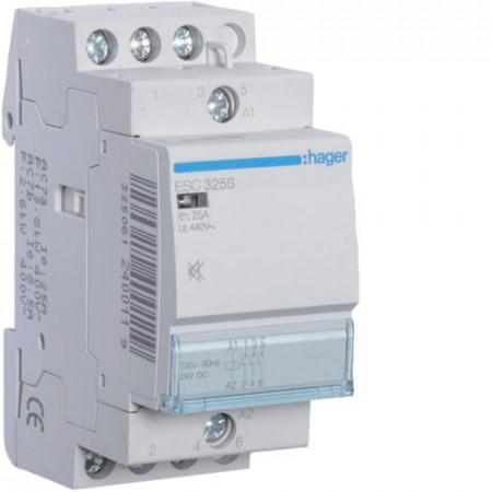Contactor modular Hager ESC427S - CONTACTOR SIL., 25A, 2ND+2NI, 230V