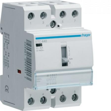 Contactor modular Hager ETC440 - CONTACTOR, D/N, 40A, 4ND, 230V