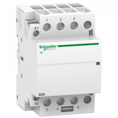 Contactor modular Schneider A9C20844 - ICT 4 Poli - 4 Nd - 40 A - 220 - 240 V C.A.