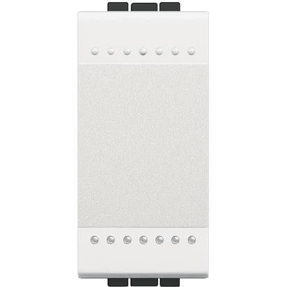 Intrerupator Bticino N4001A Living Light - Intrerupator simplu 16A - 250V, 1 modul, borne automate, alb