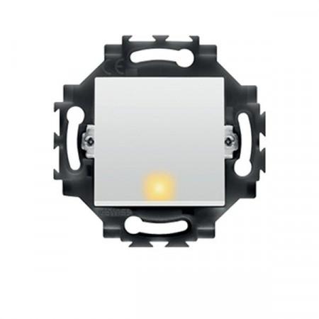 Intrerupator Gewiss GW35002W Dahlia - Intrerupator simplu cu led, 1P, 10AX, alb