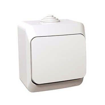 Intrerupator Schneider Cedar WDE000510 - Intrerupator simplu IP44, alb