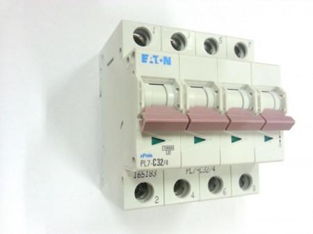 Siguranta automata Eaton 107329 - DISJUNCTOR PL7-C16/4 4P, 16A,10kA, C