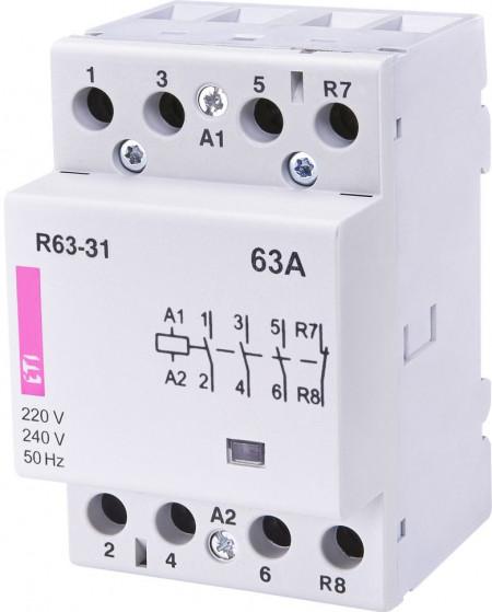 Contactor modular Eti 2463450 - R63-40 230V