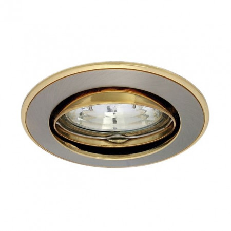 Corp iluminat Kanlux 2750 CEL PARLE CTC-5519 - Spot incastrat directional, Gx4, max 35W, 12V, IP20, inox/auriu