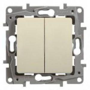 Intrerupator Legrand 664602 Niloe - Intrerupator dublu cap-scara, 10AX, ivoar