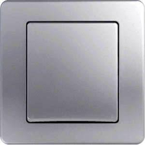 Intrerupator Tem SE10ES-B Ekonomik - Intrerupator simplu argintiu