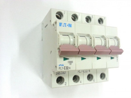 Siguranta automata Eaton 165179 - DISJUNCTOR PL7-C20/4 4P, 20A, 10kA, C