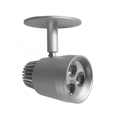 Spot Kanlux 7351 FERRA DL-3POWER LED - Proiector aplicat , directional 3W, 3000k, IP20, argintiu