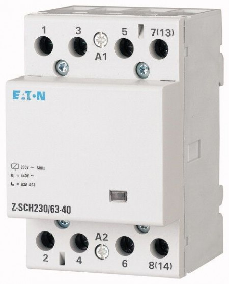 Contactor modular Eaton 248855 - Z-SCH230/40-20-Contactor modular 40A, 2ND, cda 230V