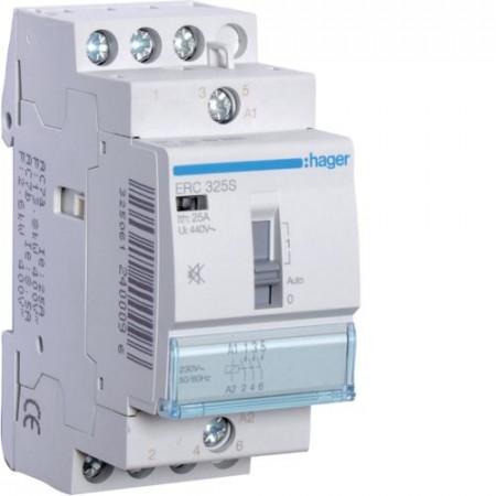 Contactor modular Hager ERC325 - CONTACTOR MANUAL, 25A, 3ND, 230V