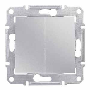 Intrerupator Schnedier SDN0600160 Sedna - INTR DUBLU CAP SCARA, 10 AX - 250 V ALUMINIU
