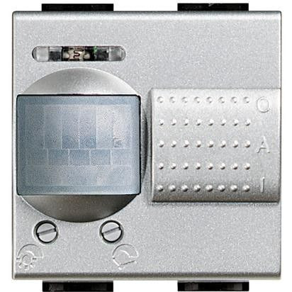 Senzor miscare Bticino NT4432 Living Light - Senzor de miscare, 2A, 2M, argintiu