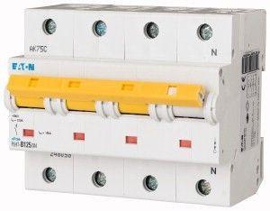 Siguranta automata Eaton 248067 - DISJUNCTOR PLHT-C125/3N 15-25kA 4P, 125A, C