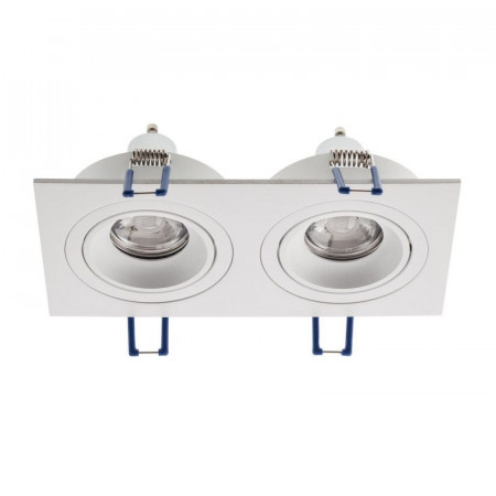 Spot Arelux XFrame FR02 MWH - Corp iluminat fara led XFRAME MR16 2XGU10 IP20 MWH, alb