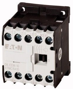 Contactor Eaton 51608 - DILEEM-10(230V50HZ,240V60HZ)-Contactor 3KW AC-3 1ND