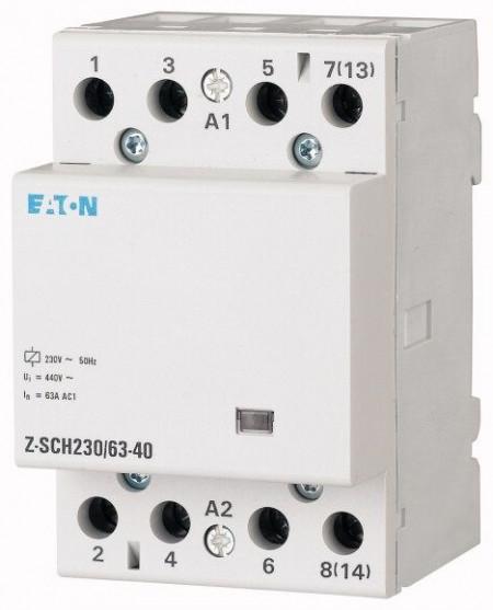 Contactor modular Eaton 285735 - Z-SCH230/63-04-Contactor modular 63A, 4NI, cda 230V